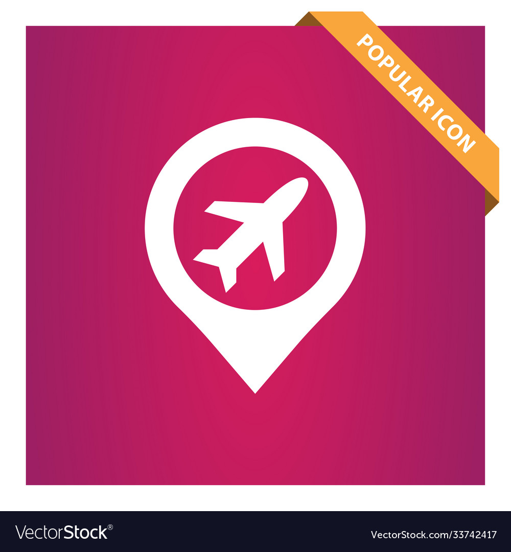 Airport with pin icon