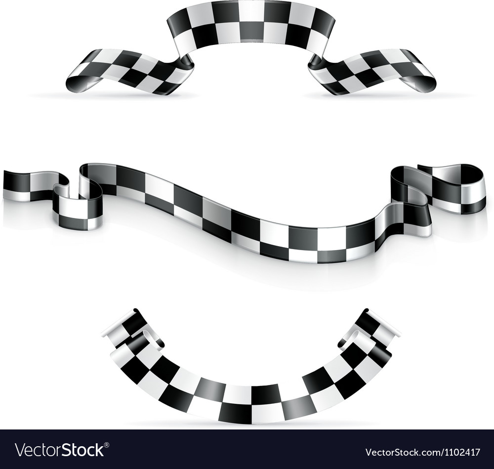 Checkered Ribbons Royalty Free Vector Image Vectorstock