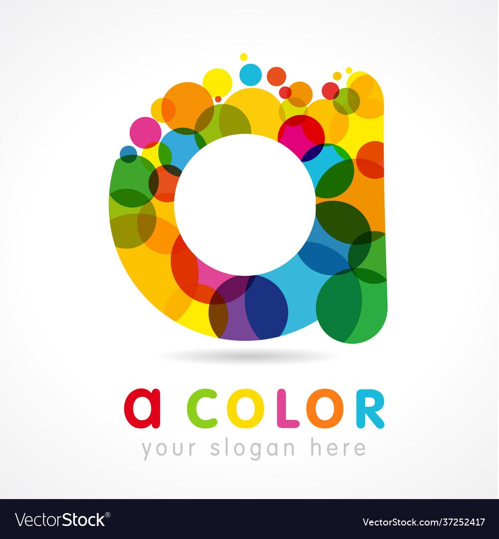 Colored a logo concept