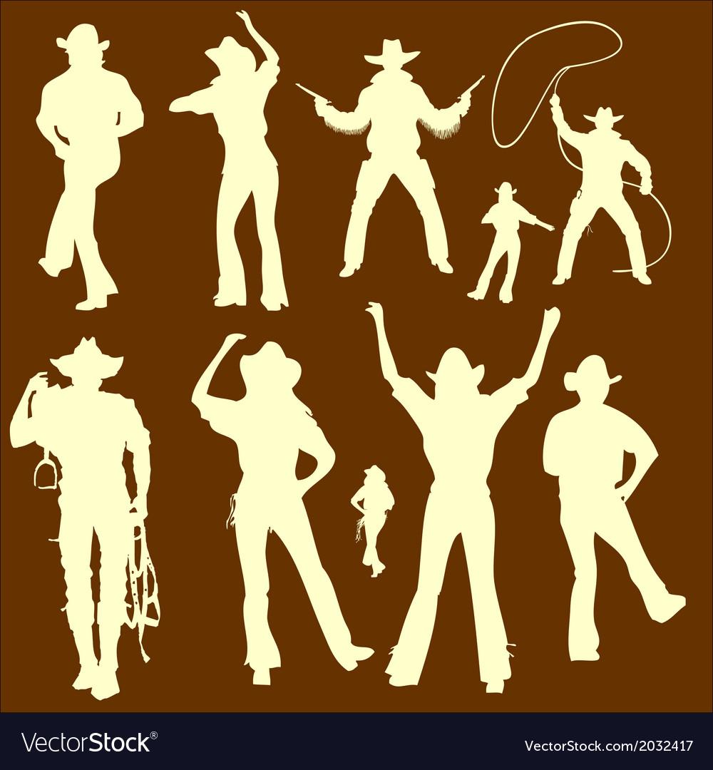CowBoys 1 vector image