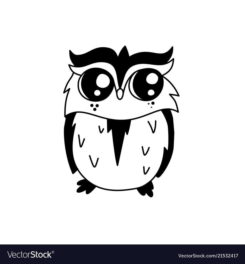 Doodle owl character
