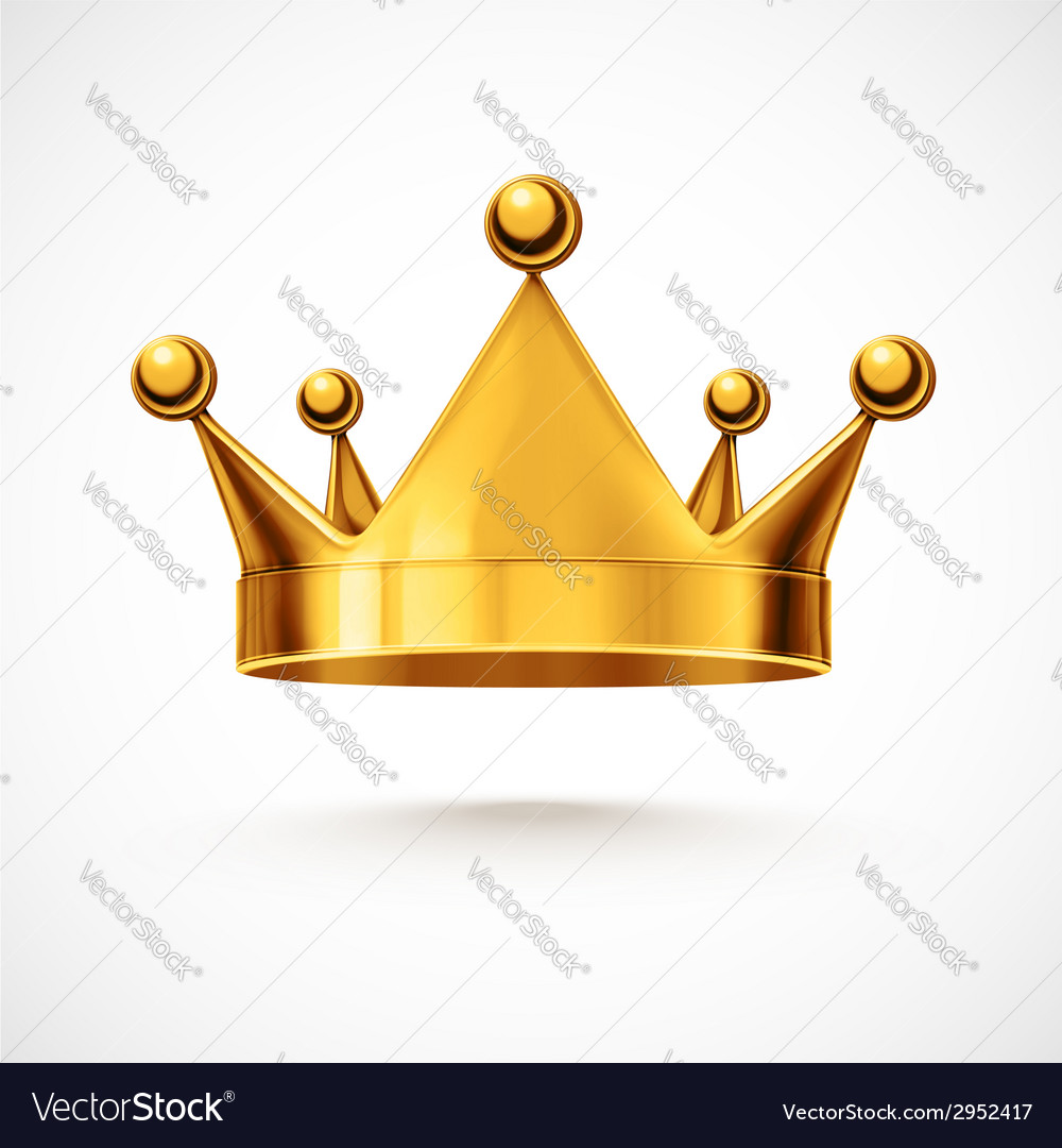 Isolated Crown vector image