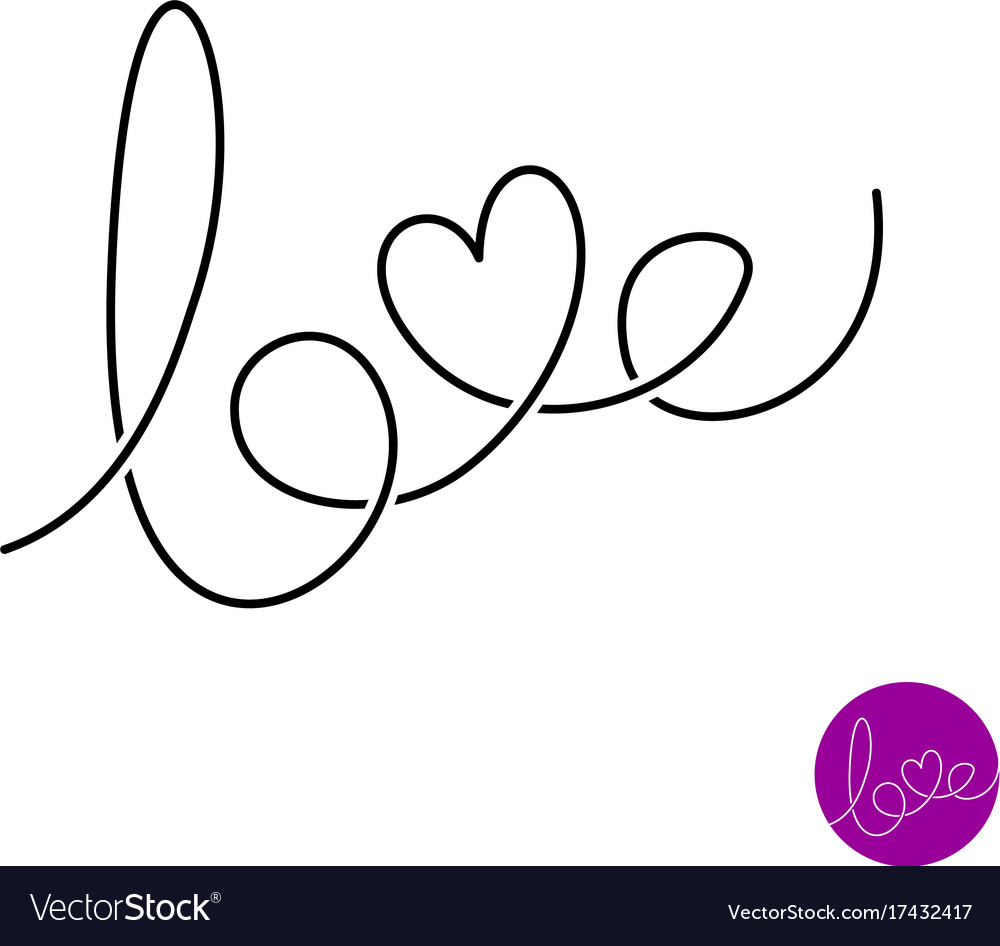 Love letters text logo
