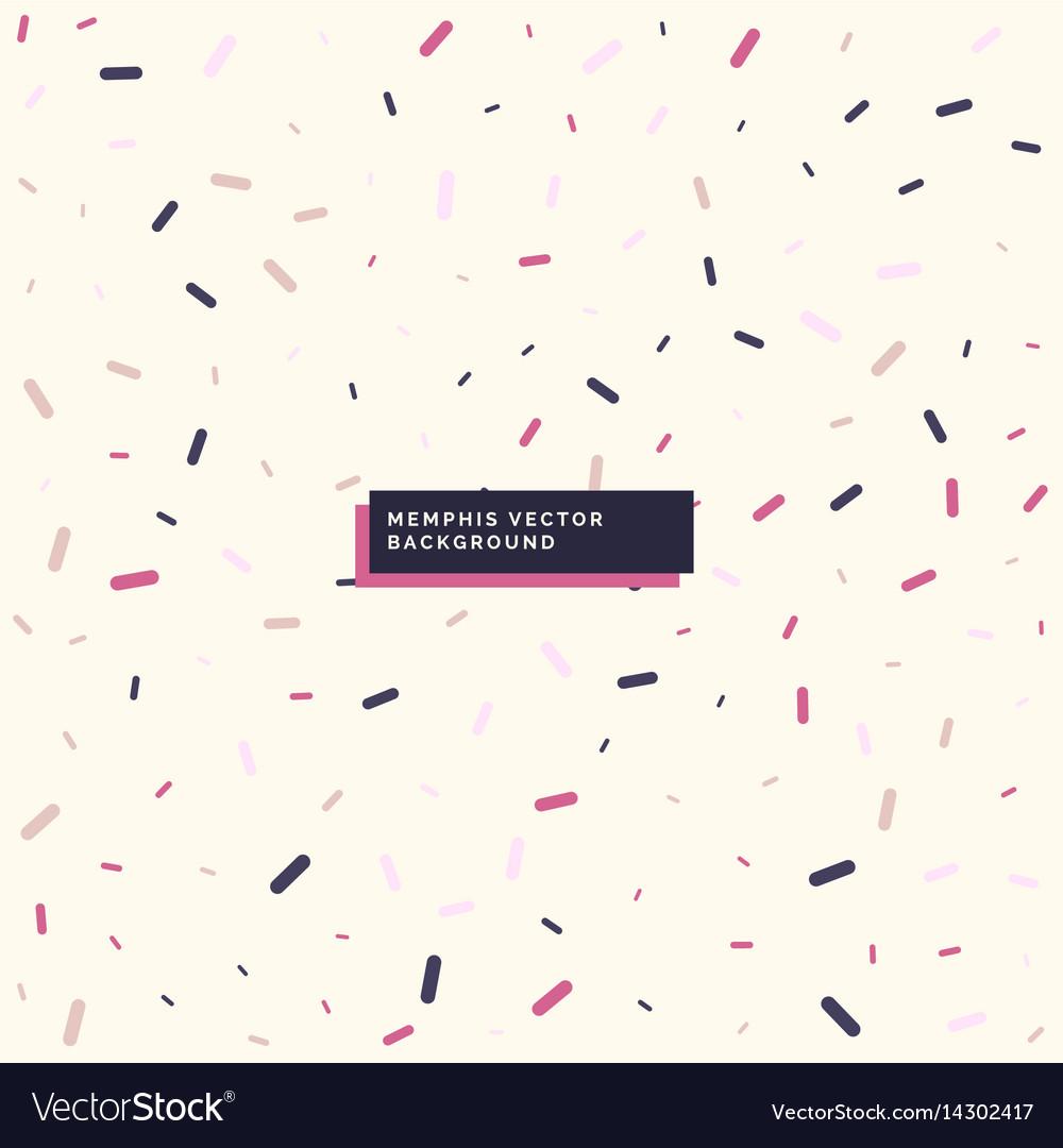 Minimal memphis style background design vector image