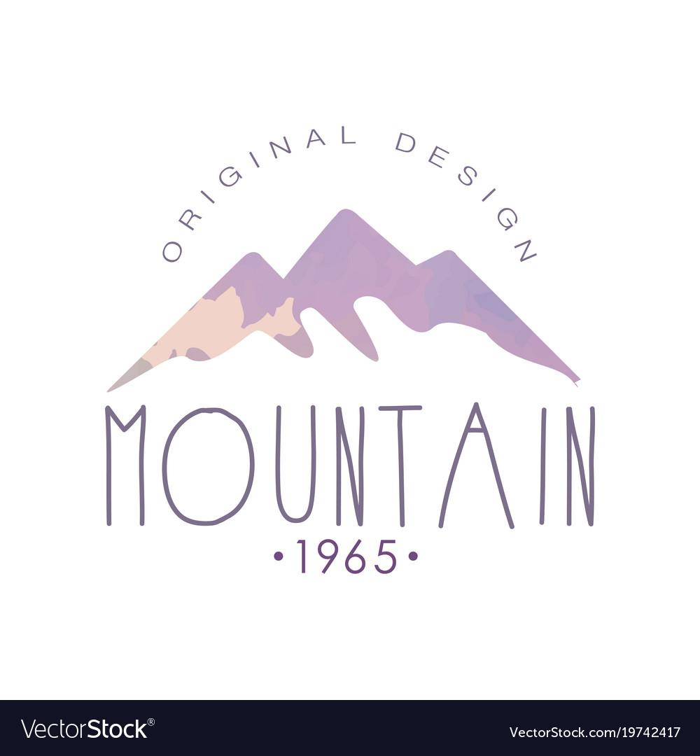 Mountain original design estd 1965 logo tourism