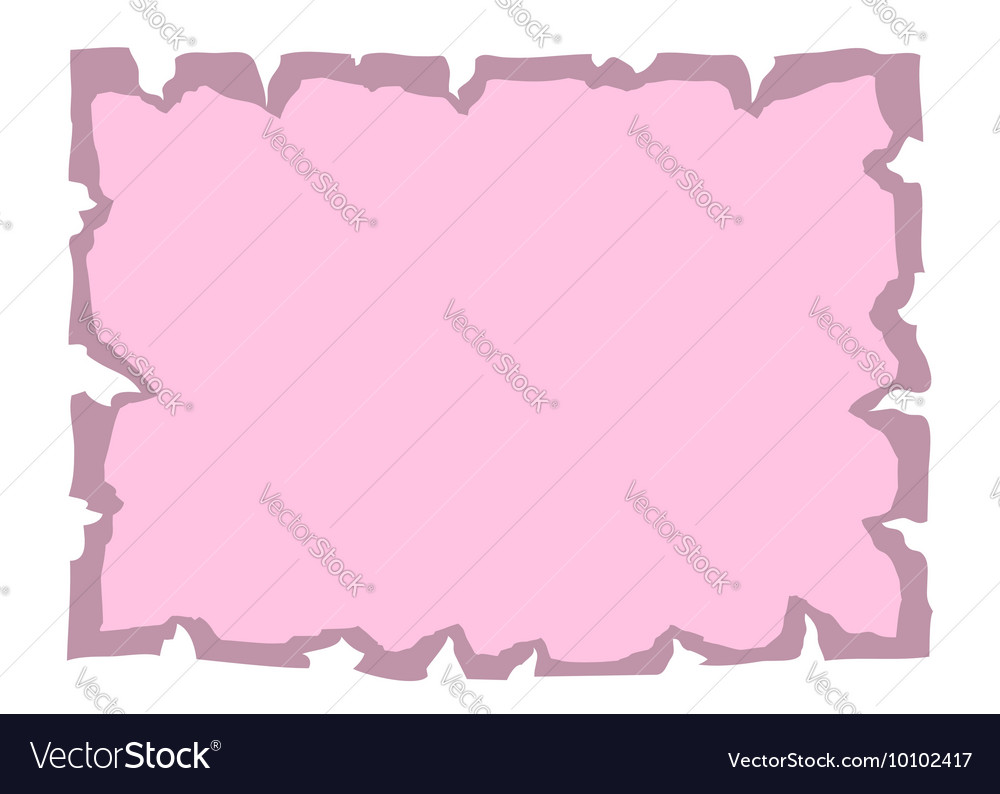 Parchment old paper Empty banner pink