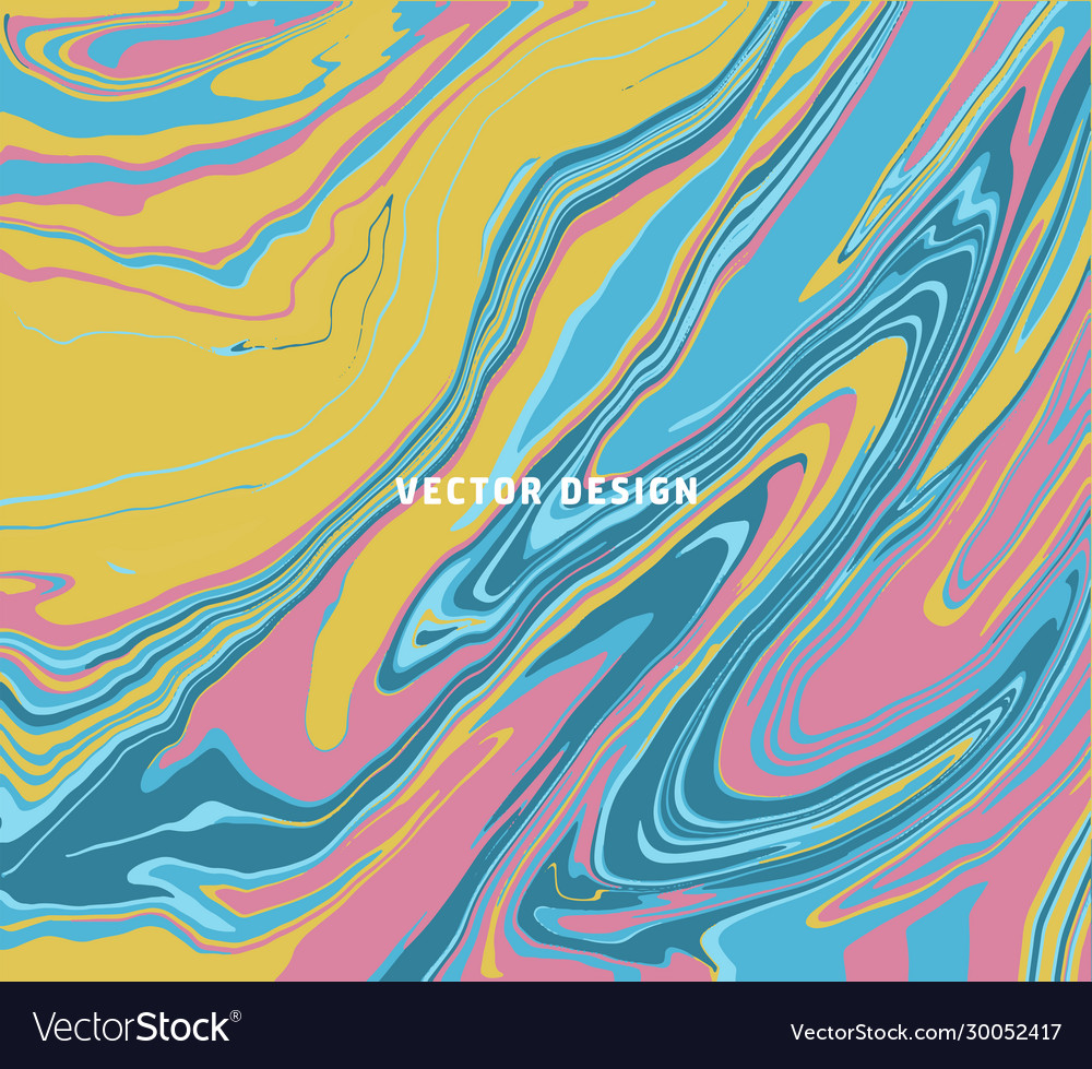 Pastel pink yellow blue marble ebru abstract