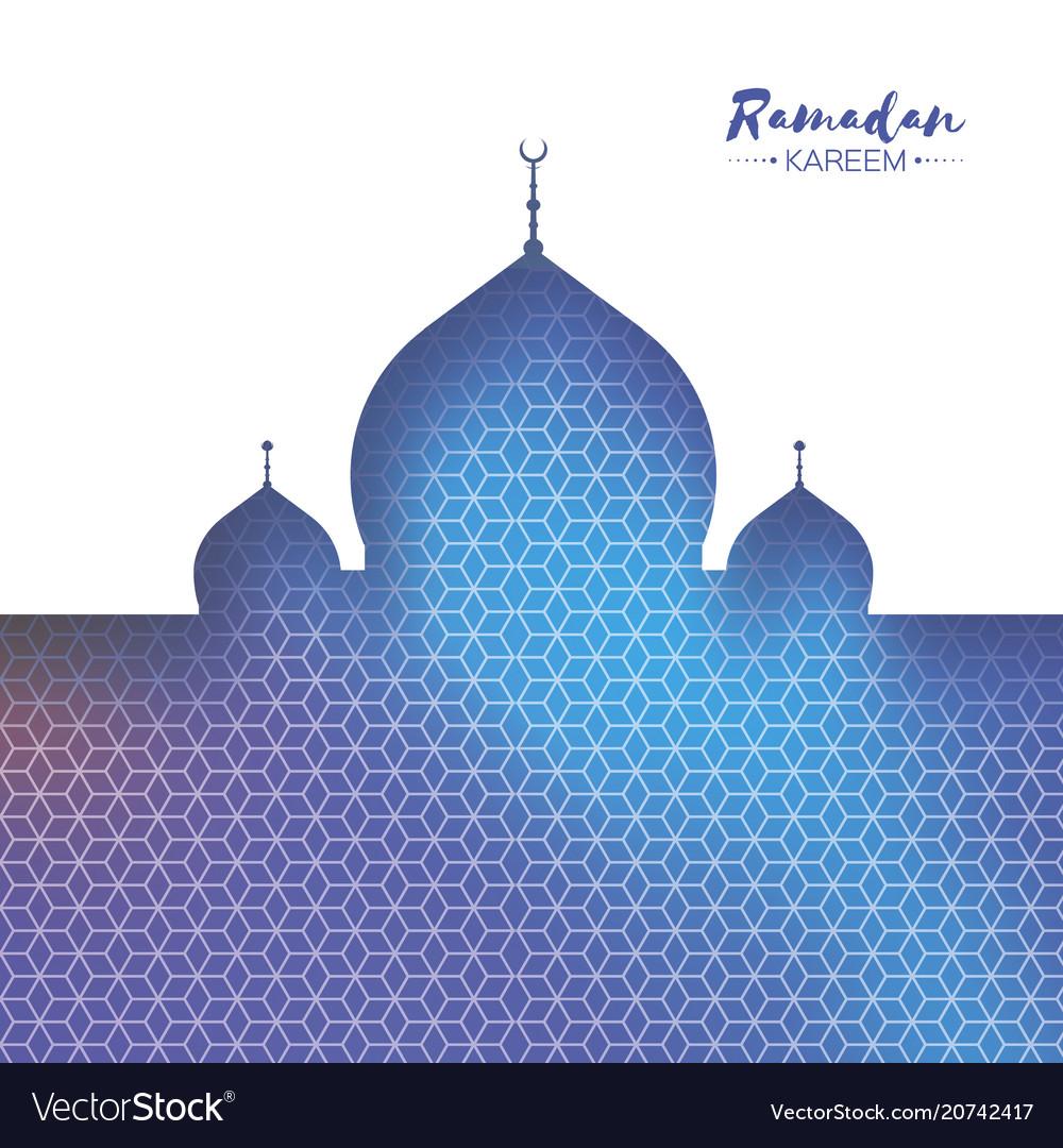 Ramadan kareem orange ornamental arabic pattern
