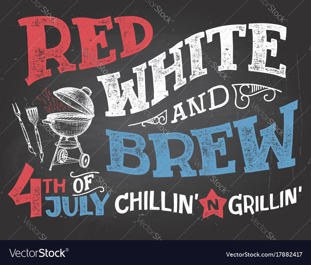 Red white and brew 4th of july celebration