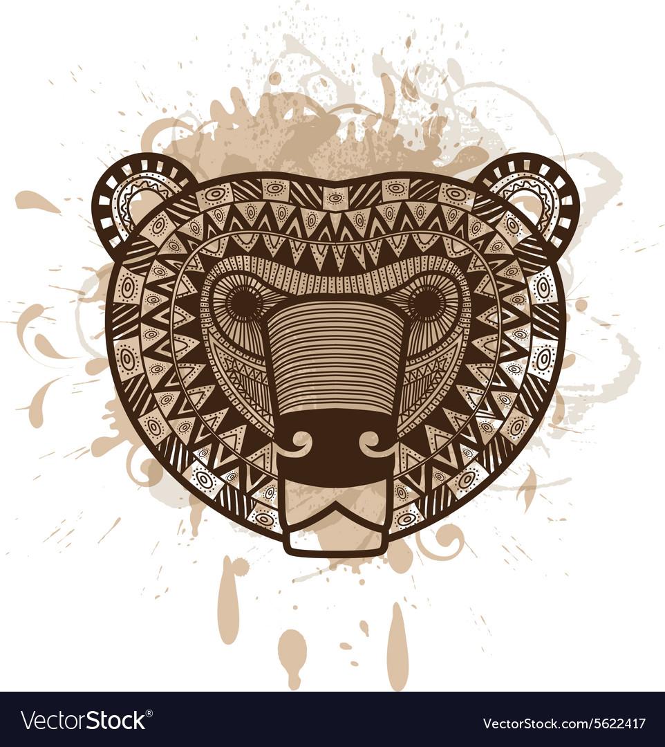 Stylized bear face