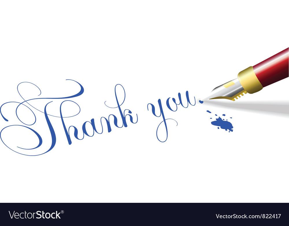 Thank you note fountain pen