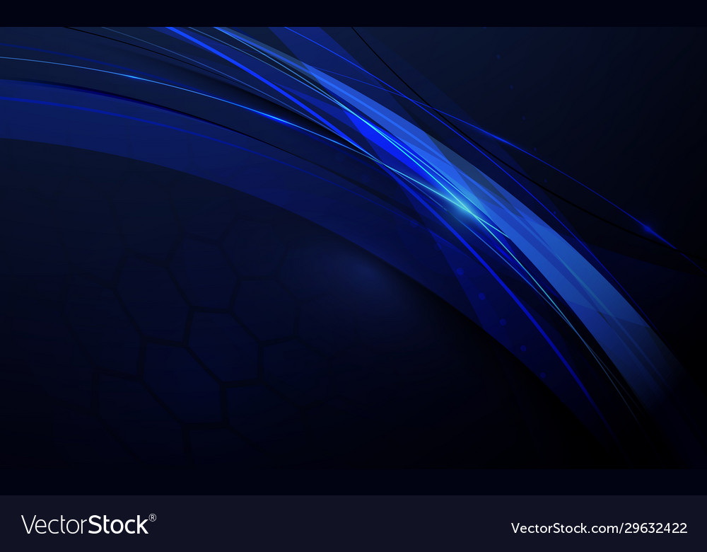 Abstract blue geometric technology and science