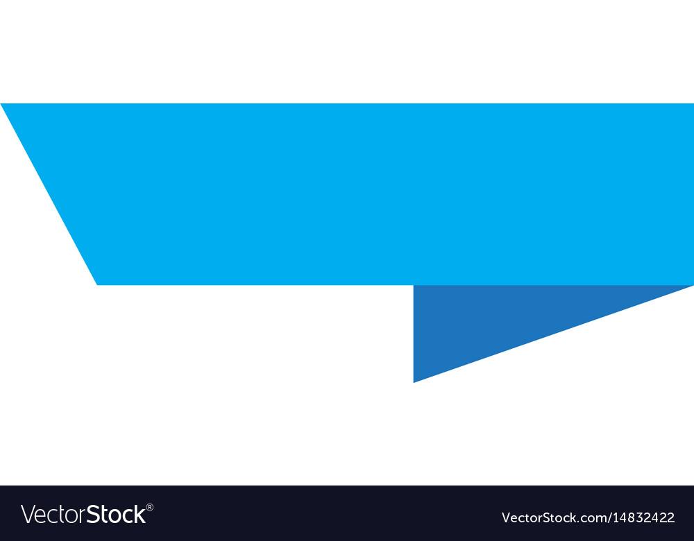 Blue ribbon banner sign blue ribbon banner on Vector Image  Blue ribbon ban...