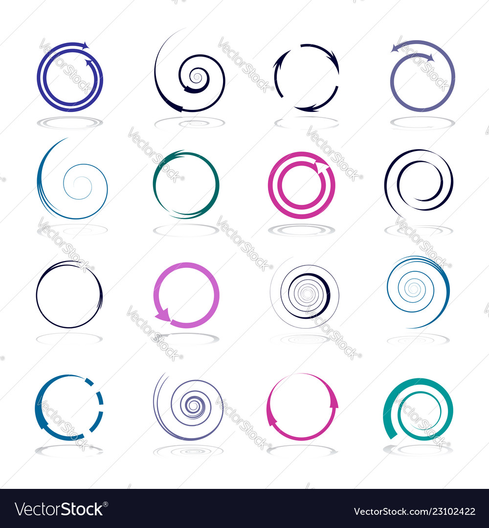 Circle and spiral design elements