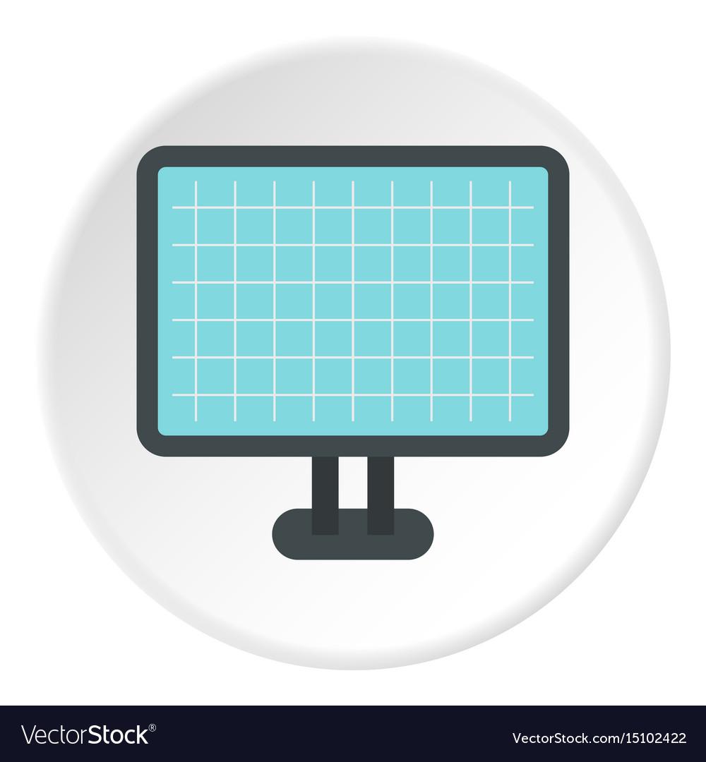 Monitor icon flat style