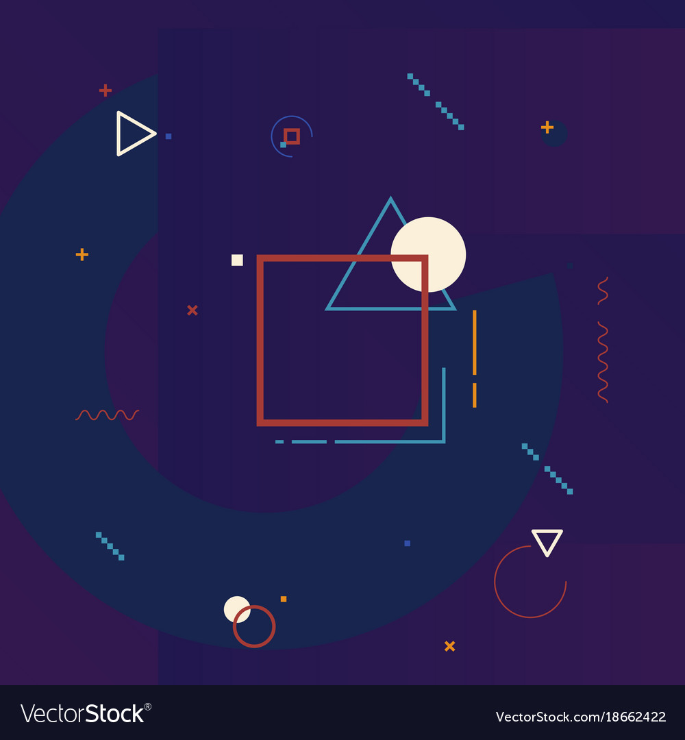 motion graphics design element geometric vector image