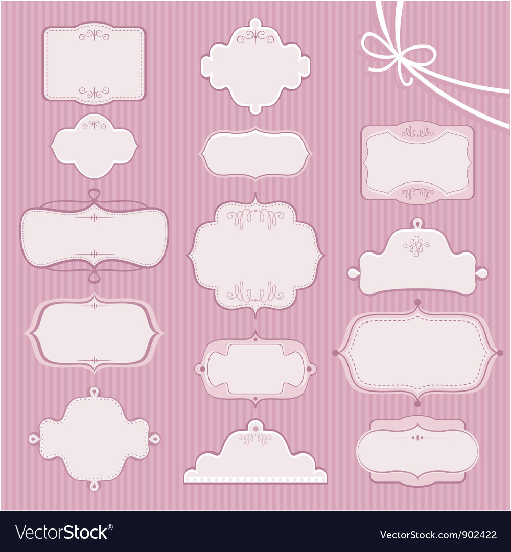 Wedding Frames vector image