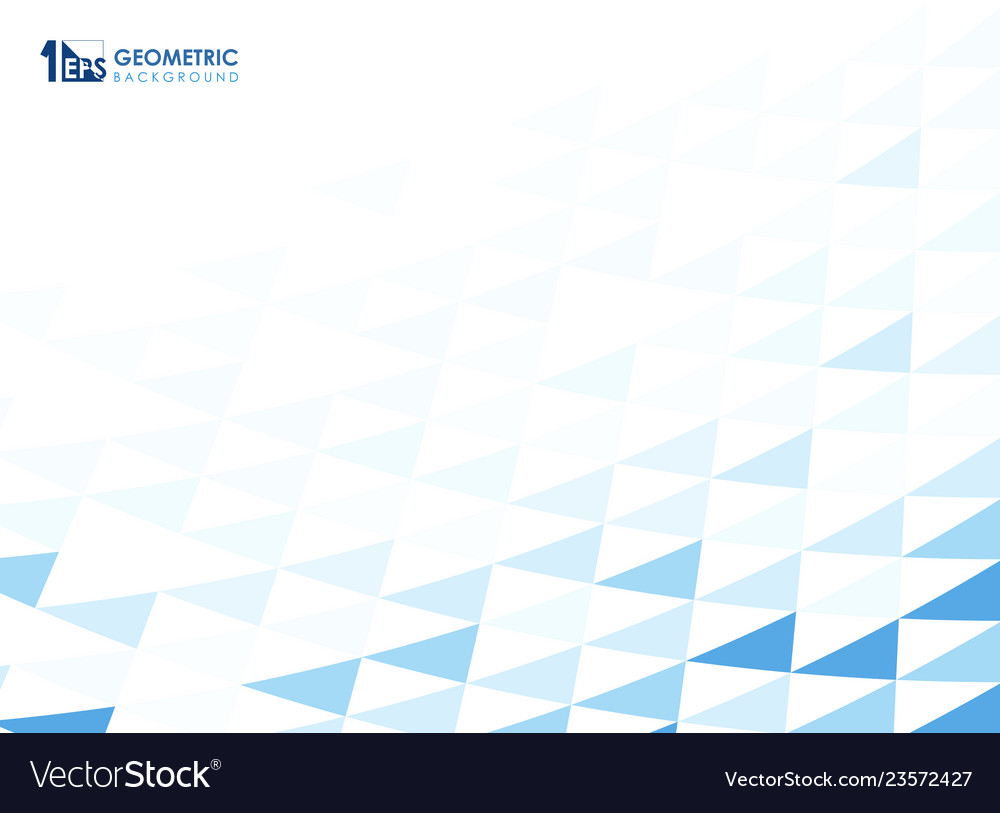 Abstract blue geometric pattern background