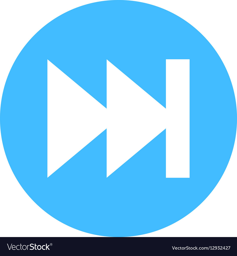 Arrow sign direction icon circle button skip