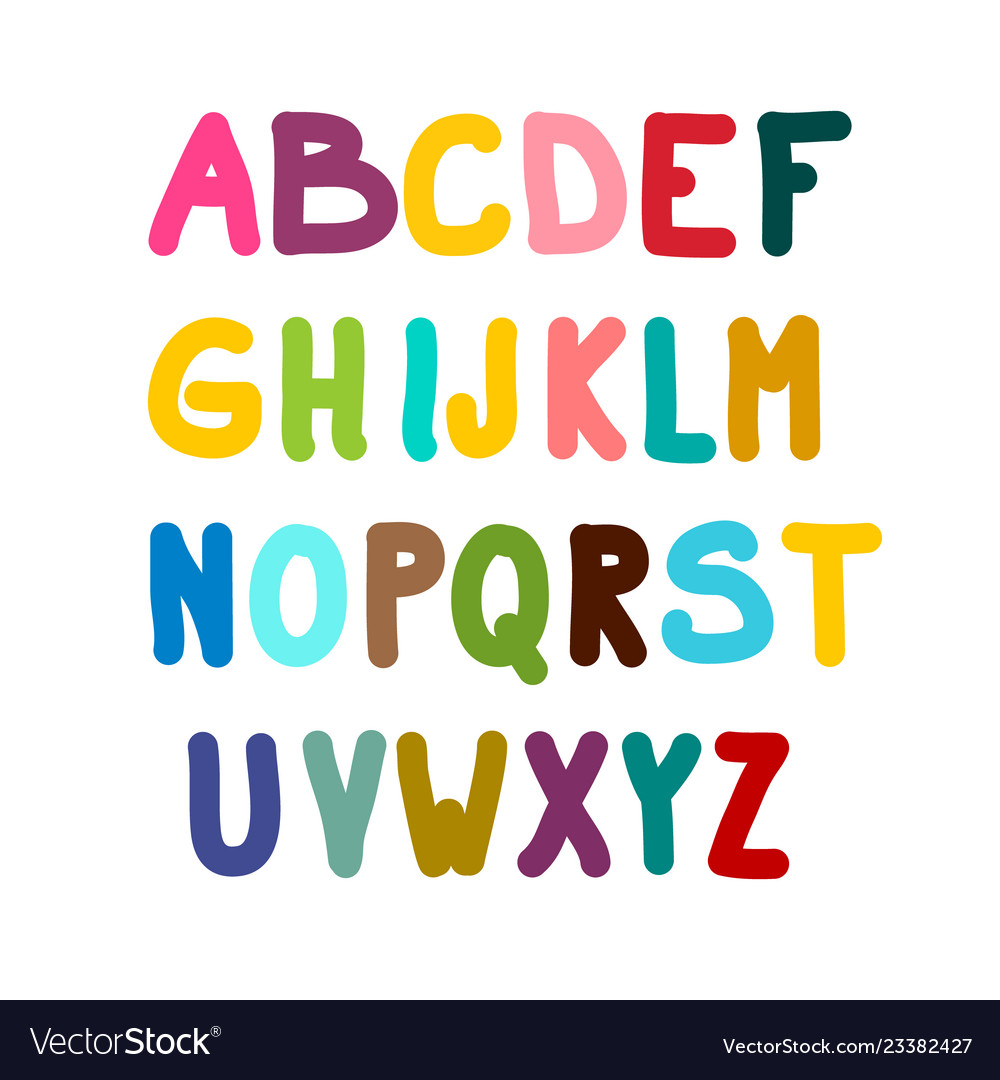 Colorful alphabet isolated on white background