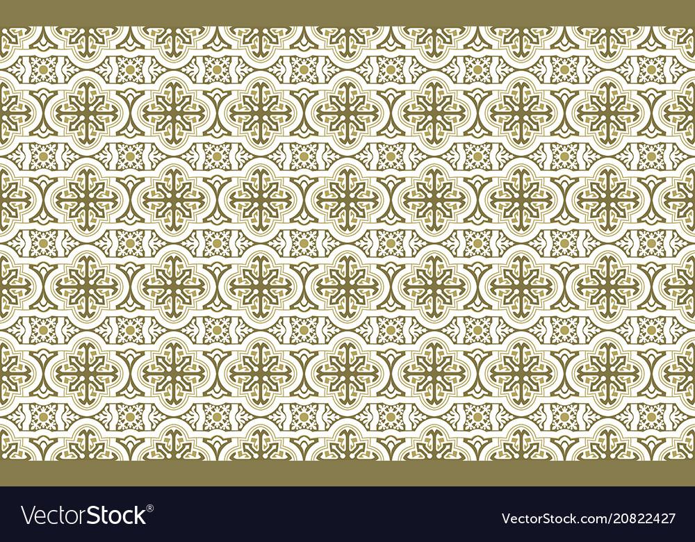 Decorative Ceramic Seamless Tiles Royalty Free Vector Image