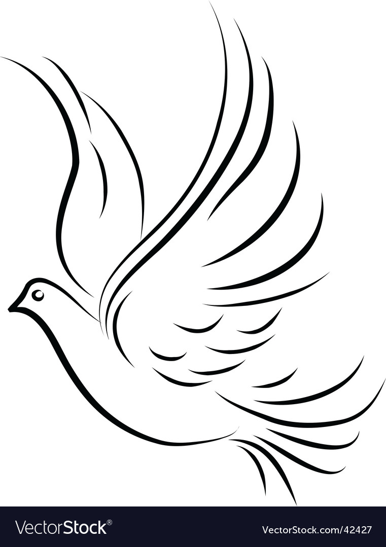 dove royalty free vector image vectorstock rh vectorstock com dove vector logo dove vector download