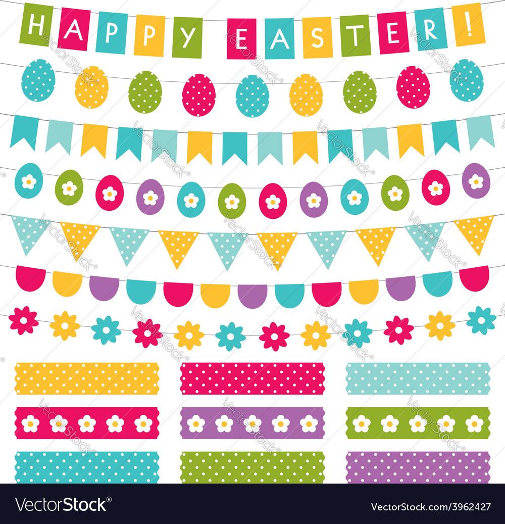 Easter decoration set vector image