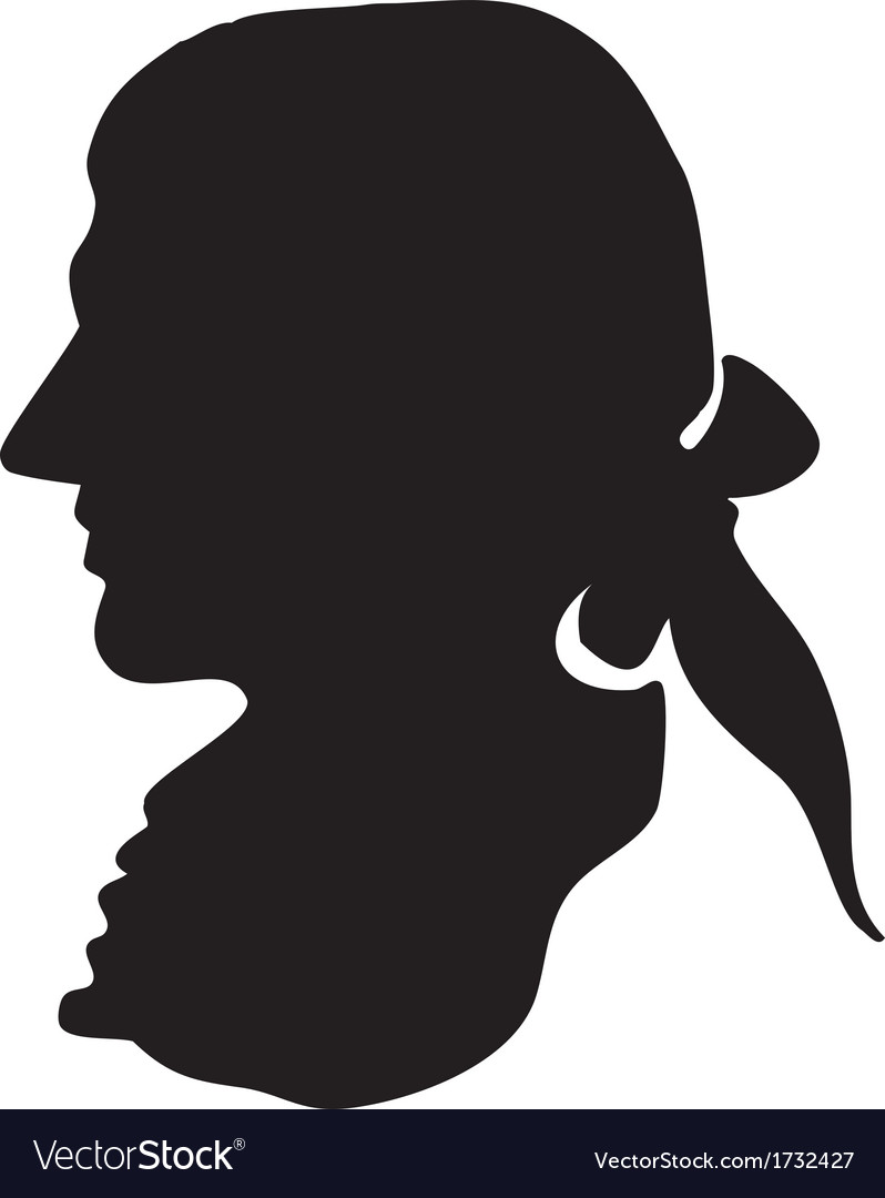George Washington silhouette vector image