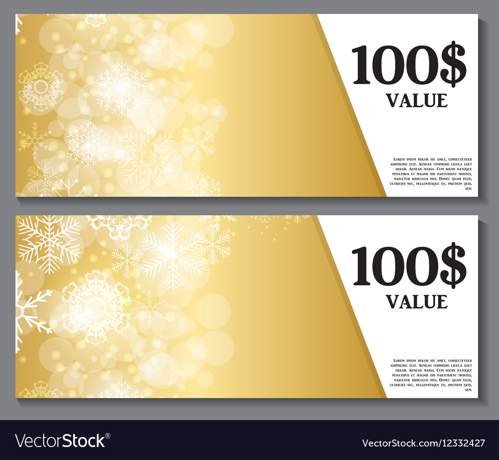 Gift Voucher Template for Christmas and New Year