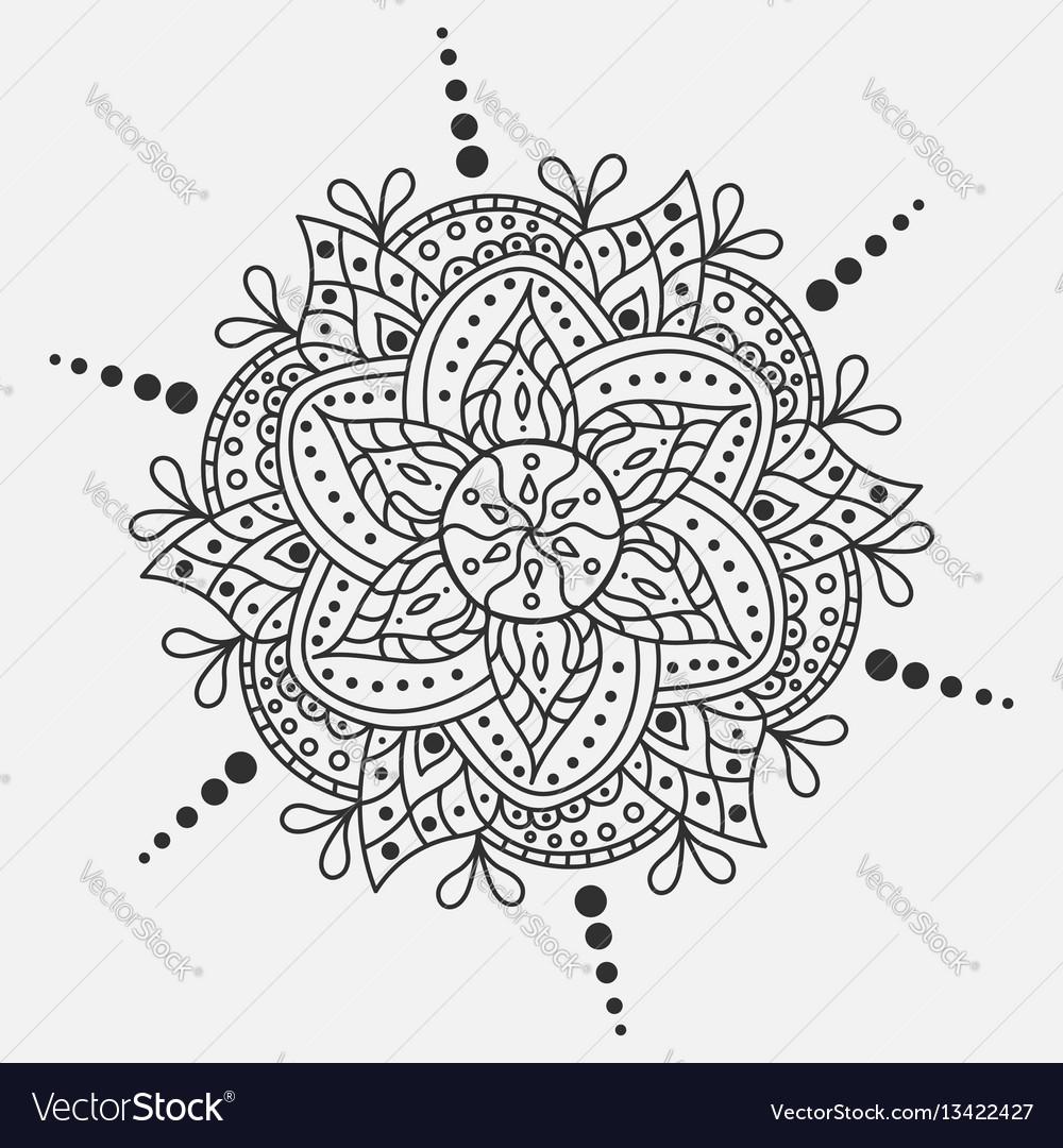 Mandala round ornament traditional indian