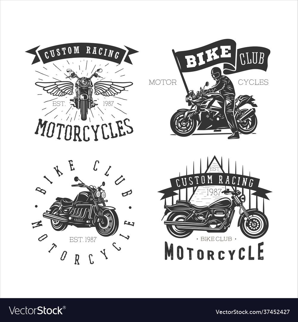 Set logo motorcycle vintage