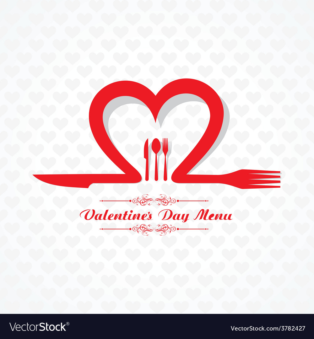 Template for Valentine day Restaurant Menu Card vector image