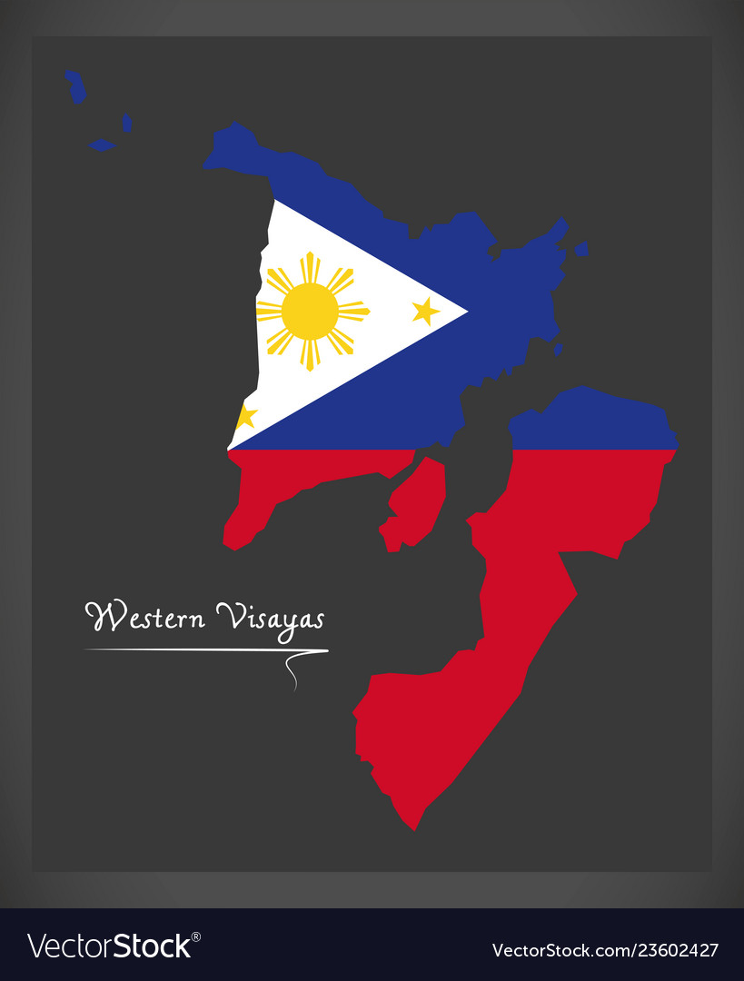 Western visayas map of the philippines with