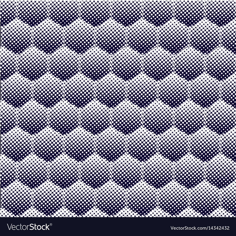 Abstract halftone hexagon pattern seamless