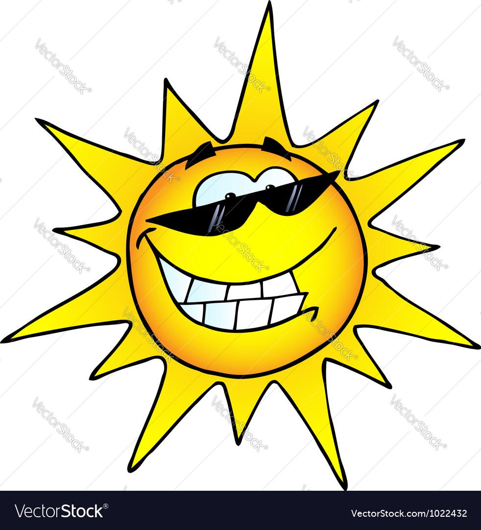 hot sun cartoon character royalty free vector image rh vectorstock com cartoon sun images download sun cartoon pic