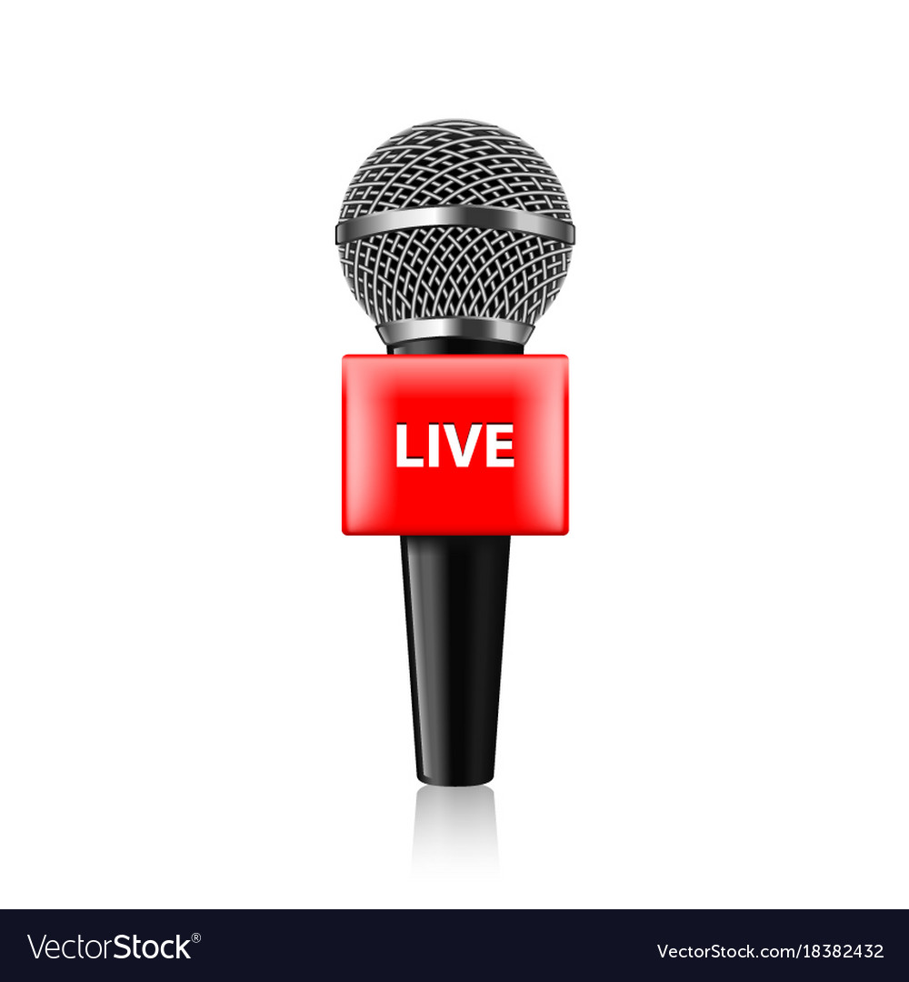 Live tv microphone isolated