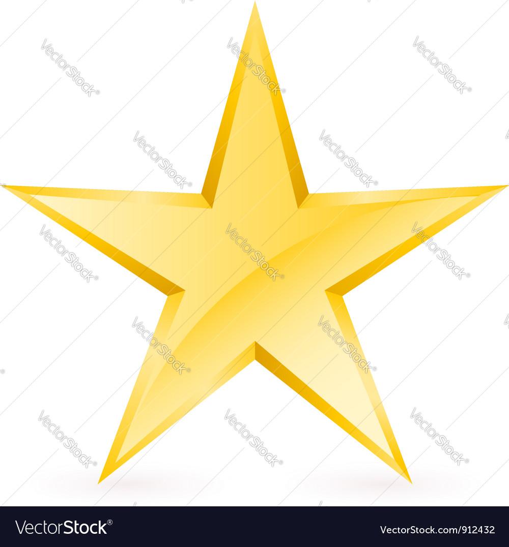 Shiny Gold Star Royalty Free Vector Image - VectorStock - photo #37