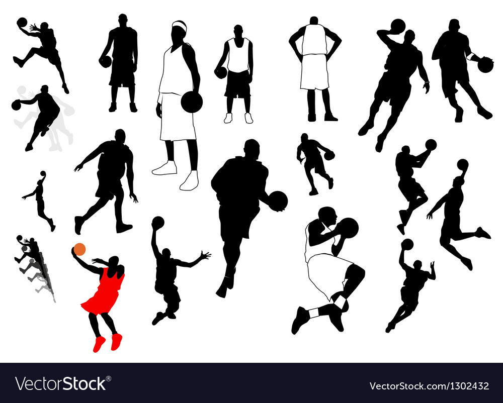 Silhouettes of sports players