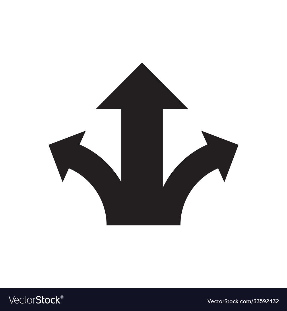 Three arrows - black icon on white background