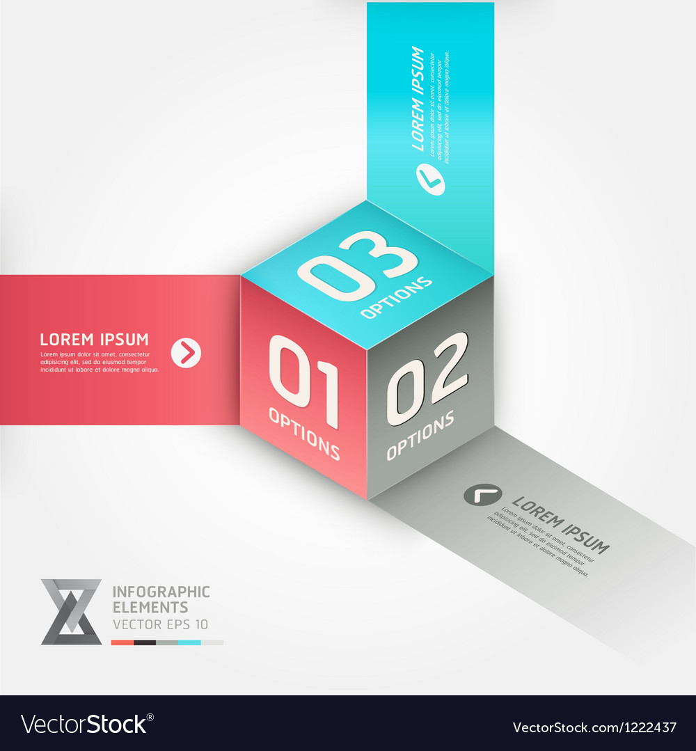 Abstract box infographics options banner