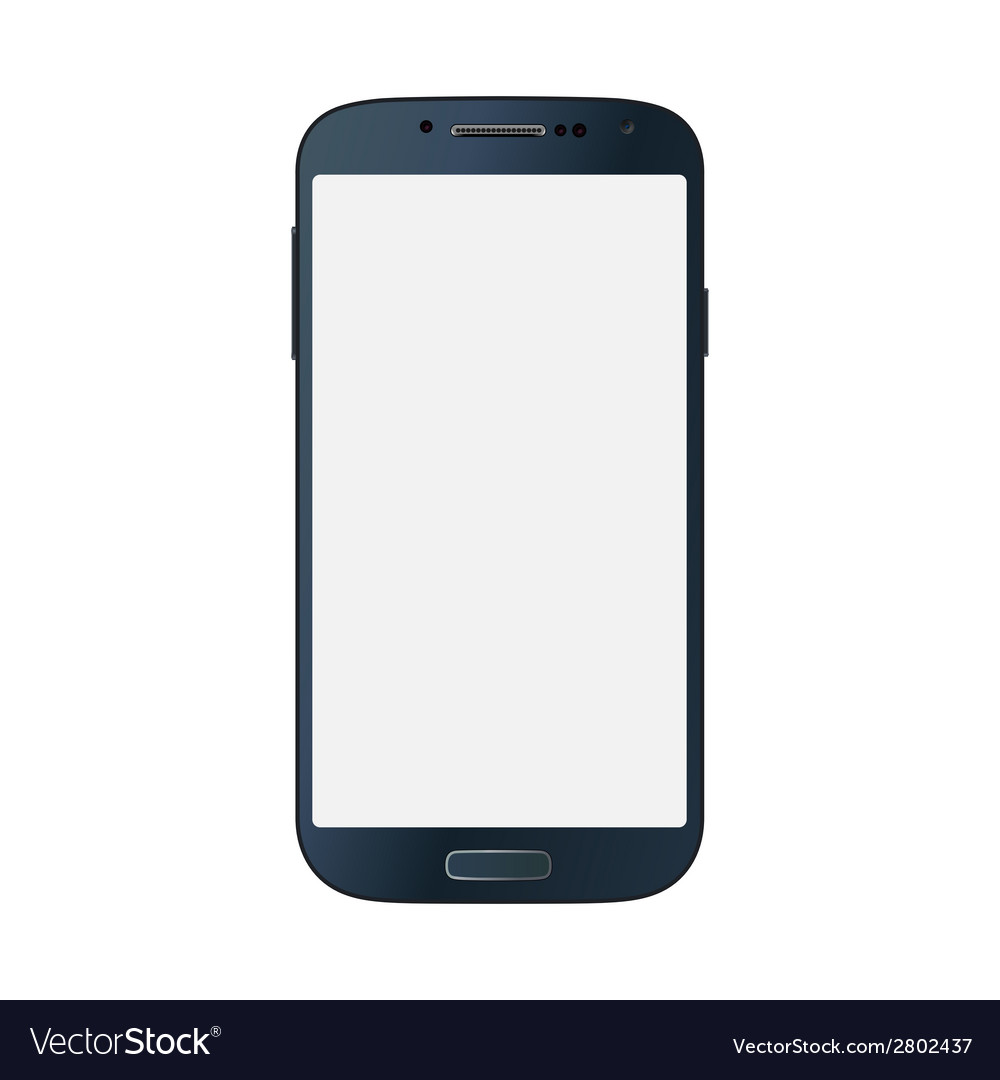 Black business mobile phone style isolated on