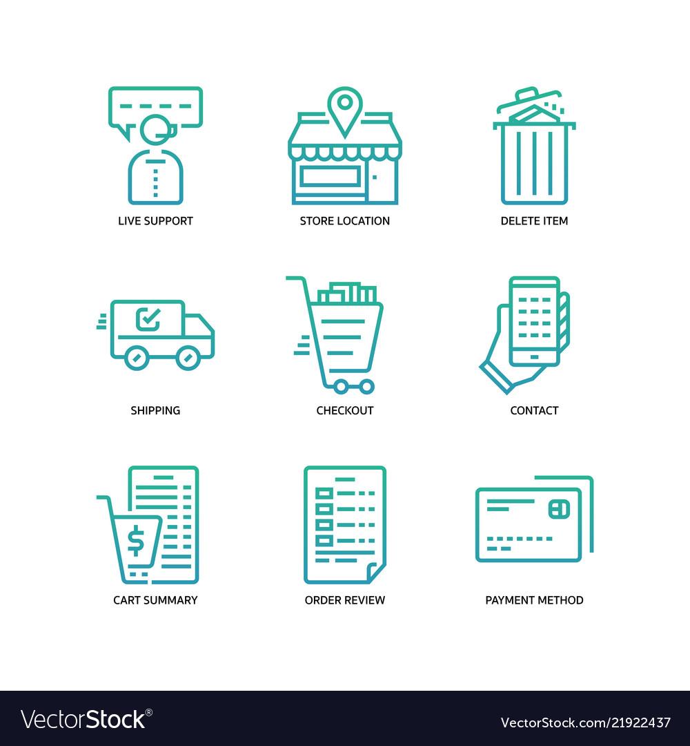 E-commerce website icon