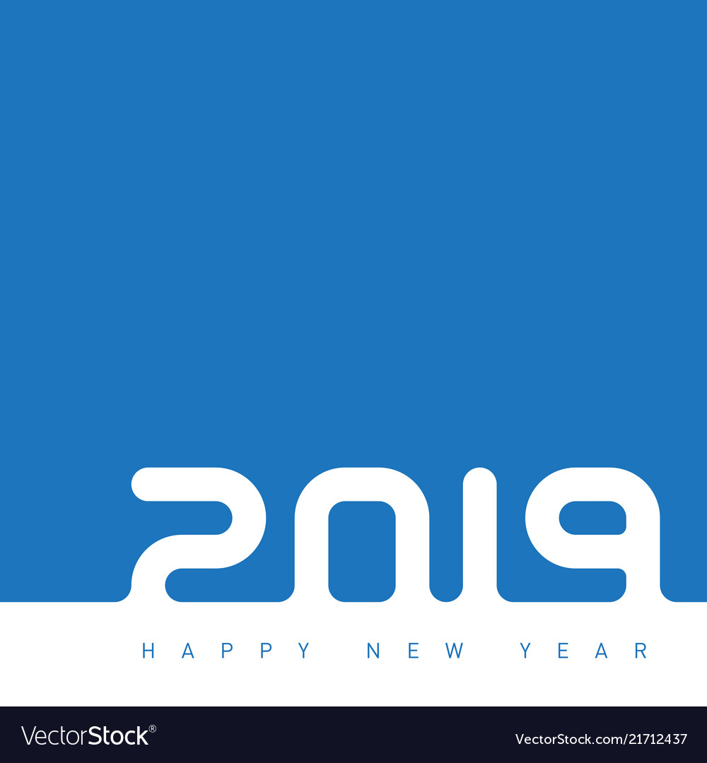 Happy new year 2019 inscription is made out