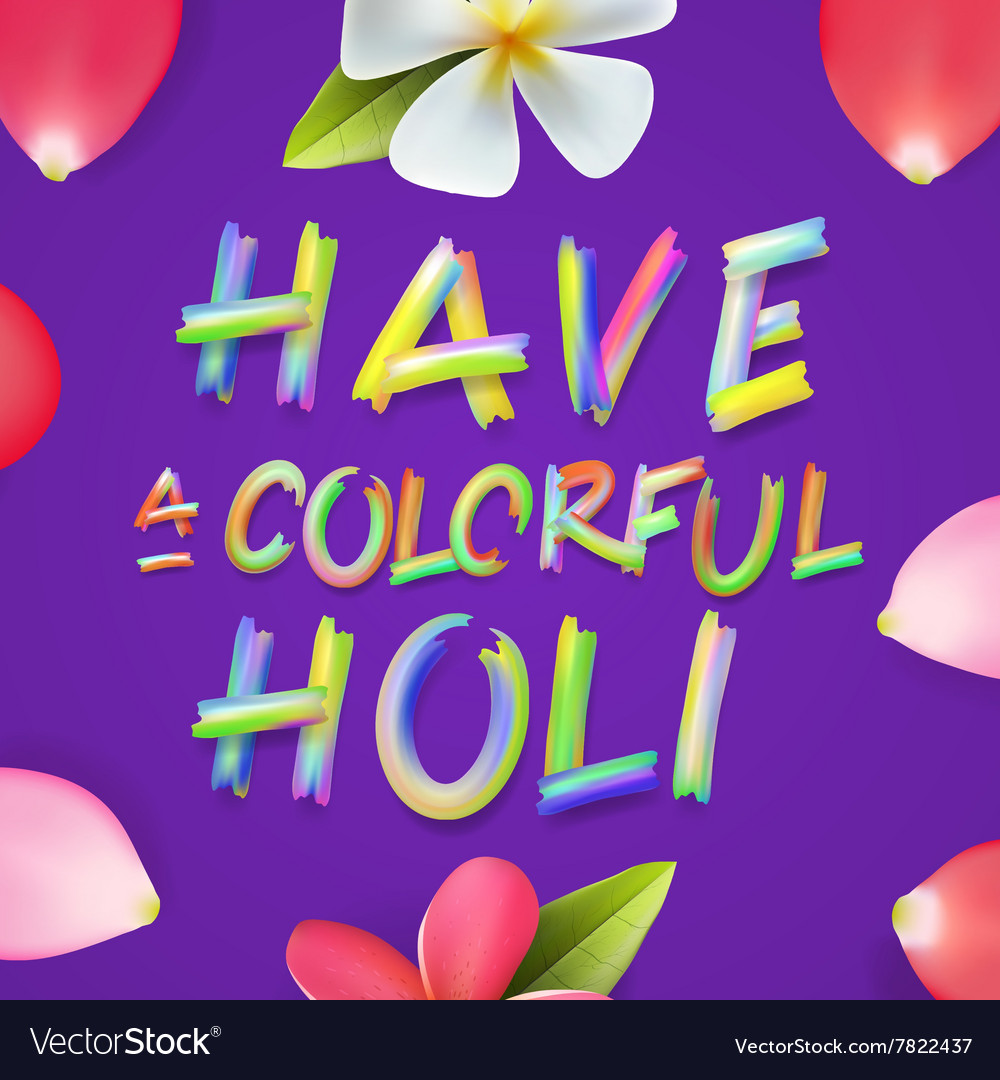 Have a colorful Holi poster of indian festival