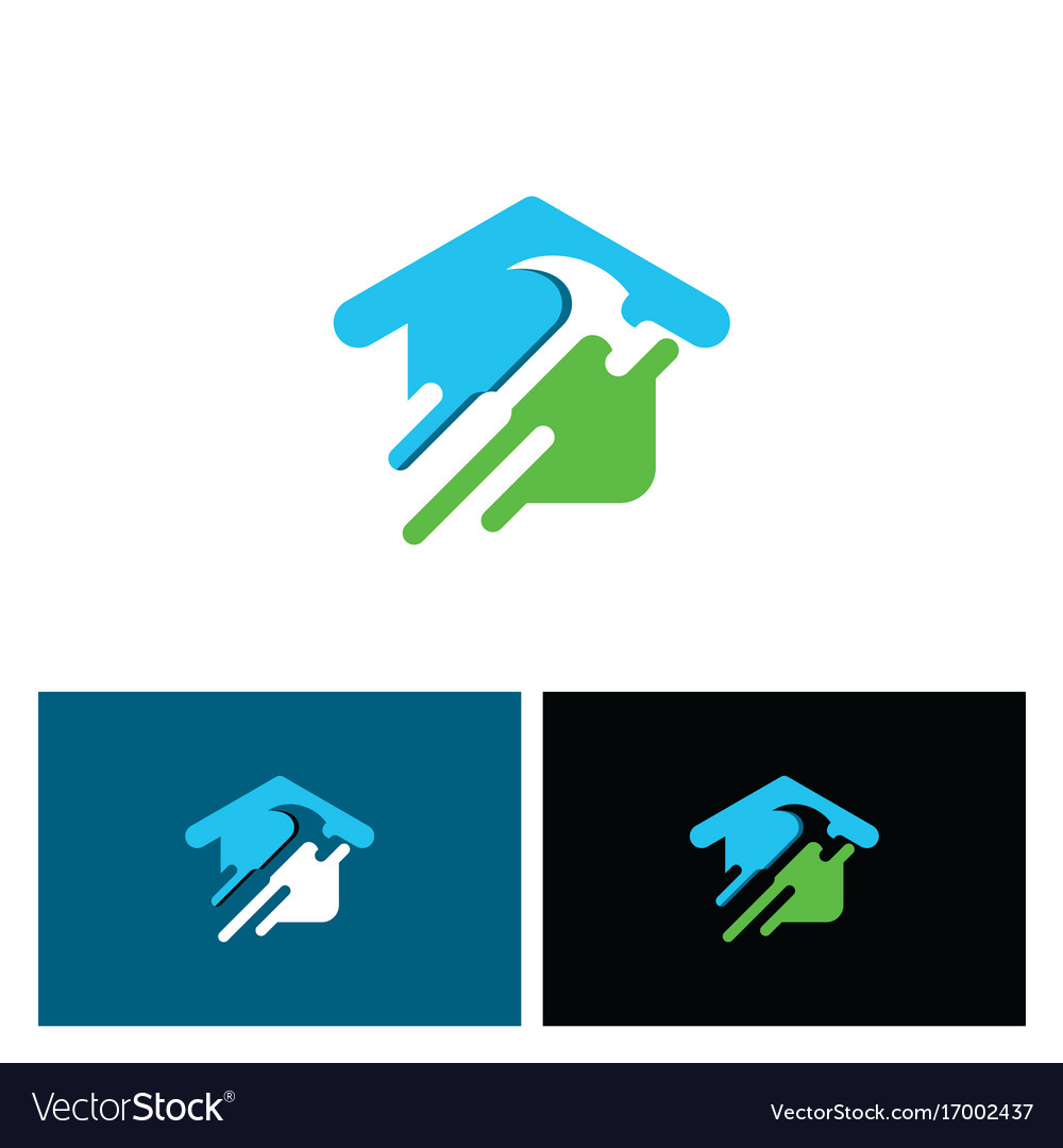 Home renovation construction logo