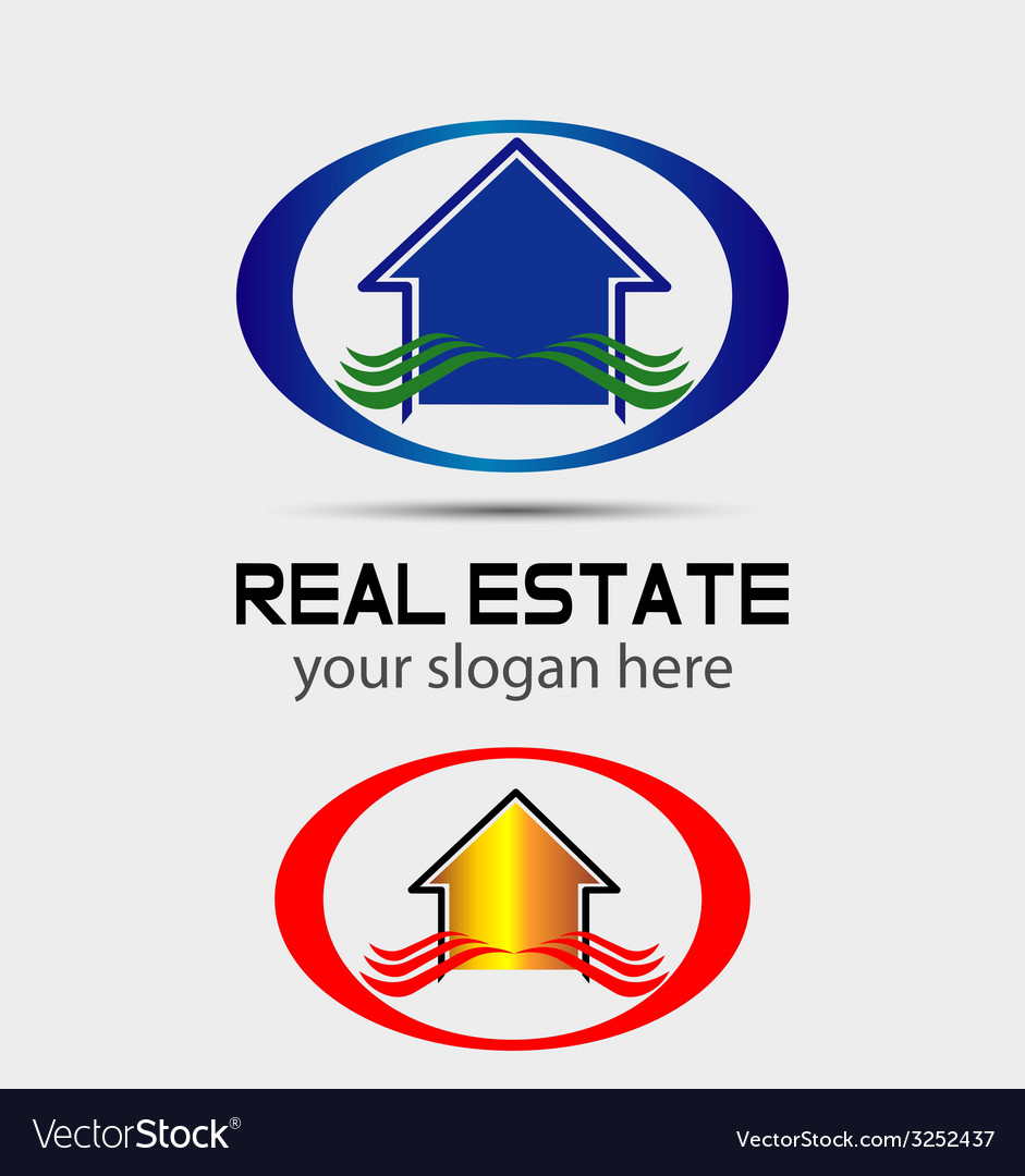 House logo for real estate companies vector image