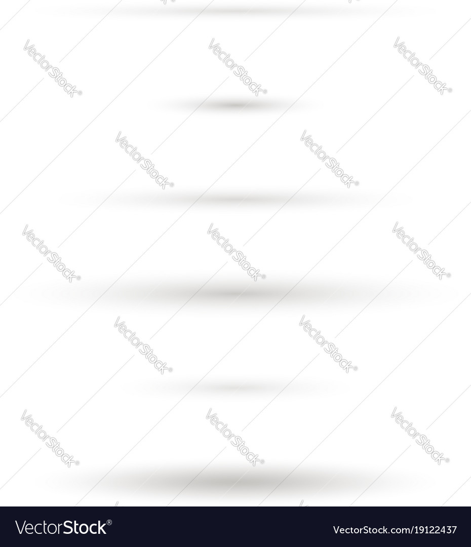 Set of realistic oval shadow isolated on white