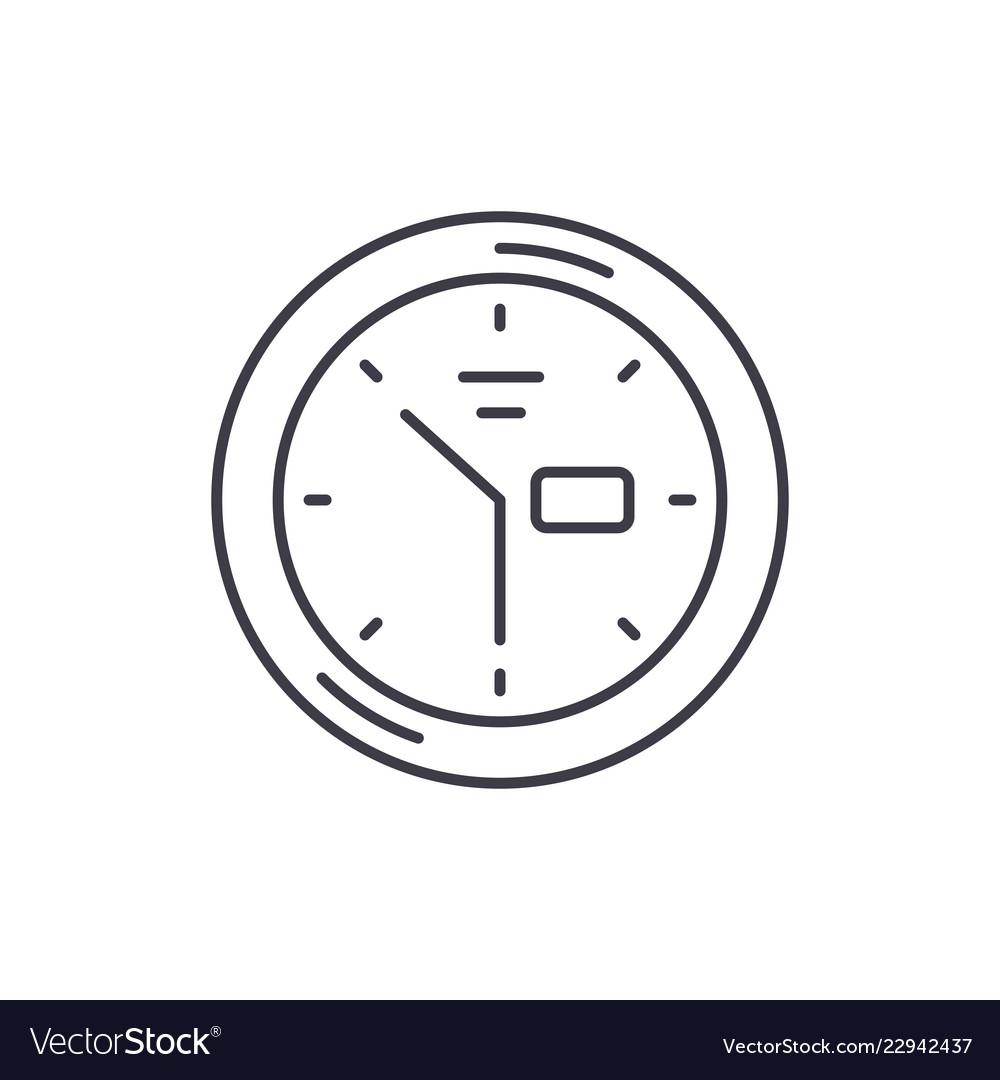 Wall clock line icon concept wall clock