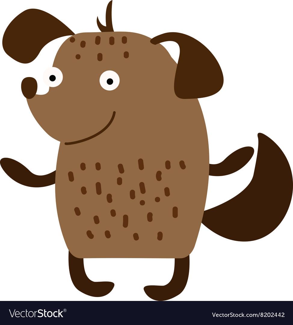 Cute cartoon puppy dog animal pet character
