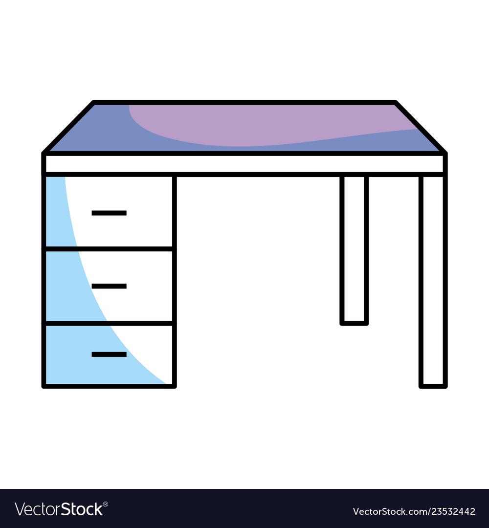 Desk isolated icon